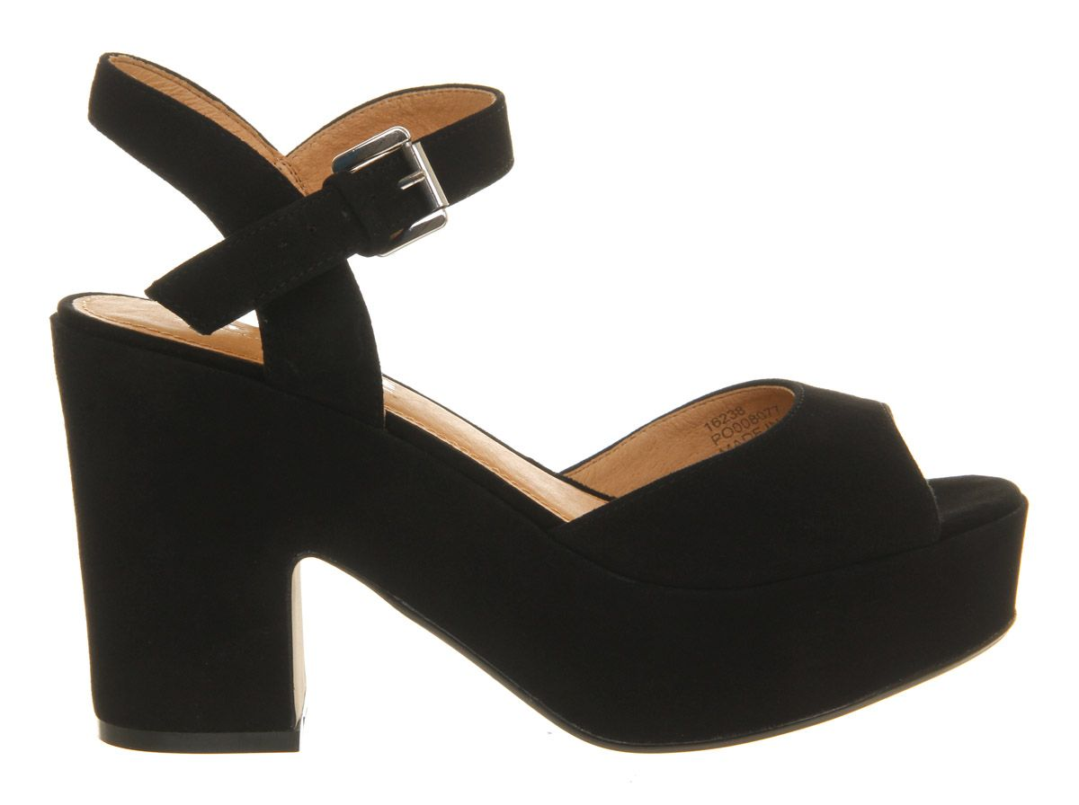 Dauntless suede open toe buckle platform sandals
