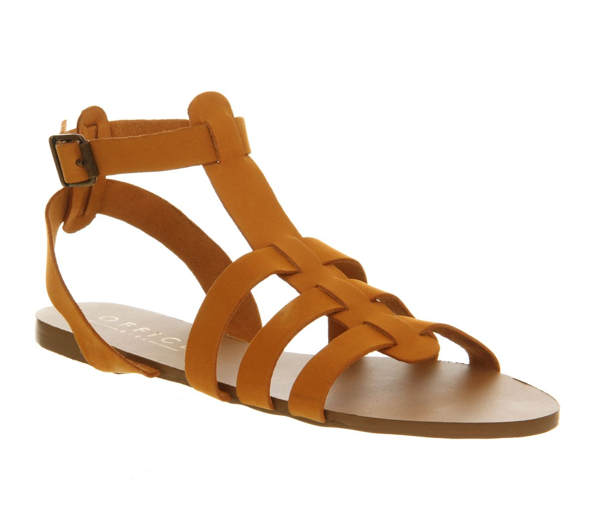 Hero gladiator leather open toe buckle sandals