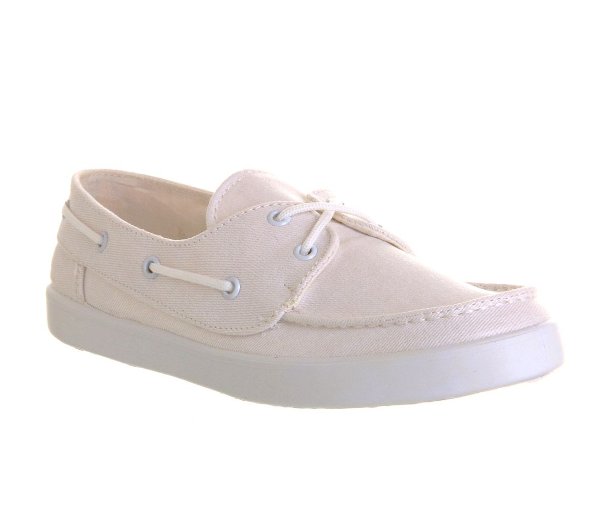 Knot round toe flat boat shoes