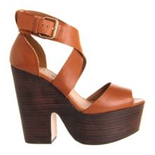 Justified x platform leather buckle shoes
