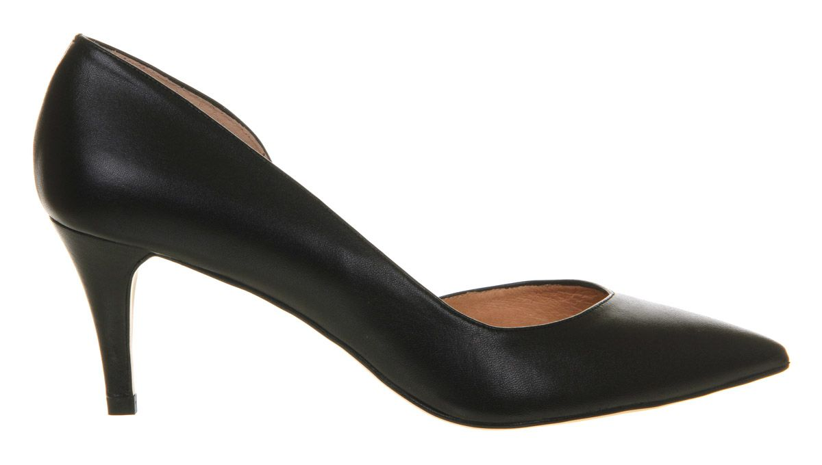 Darling dorsay kitten heel slip on court shoes