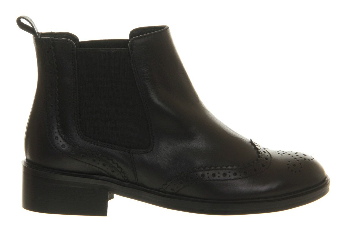 Maestro leather brogue chelsea ankle boots