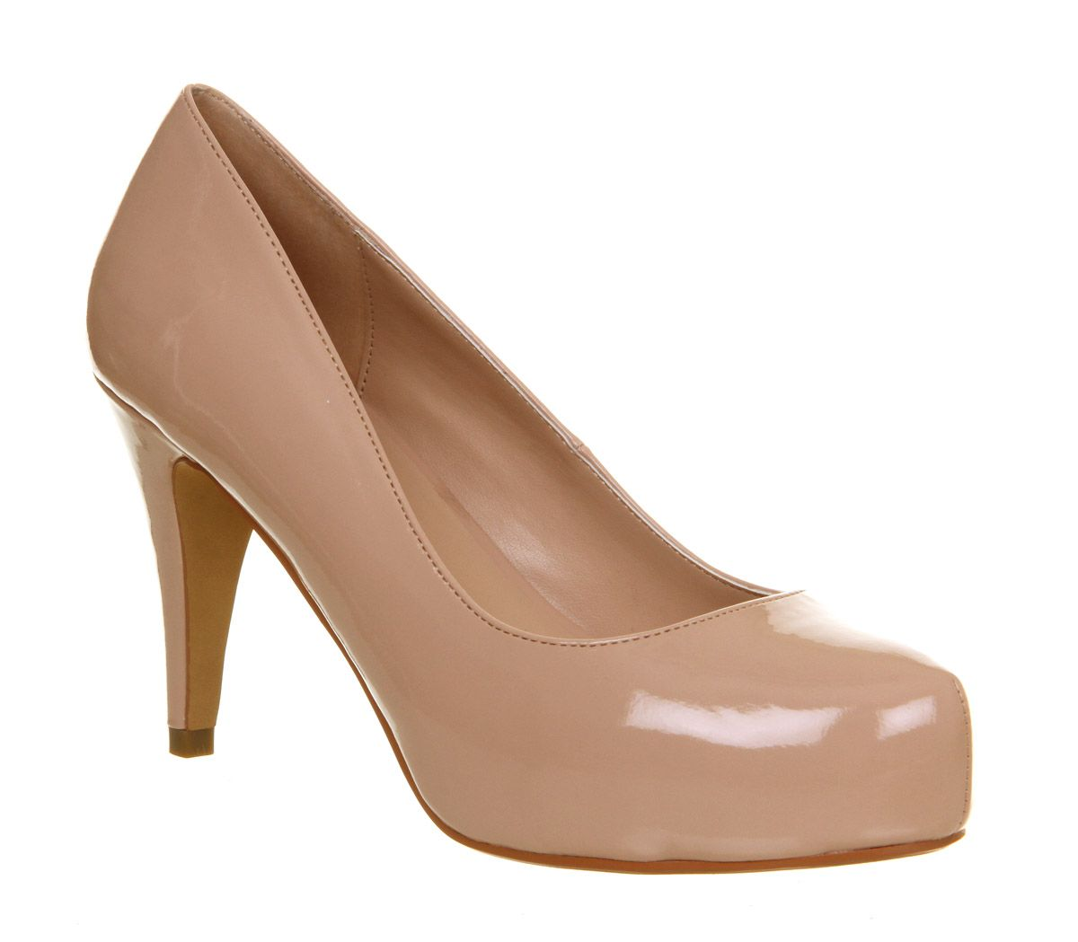 Daphne patent leather platform court shoes