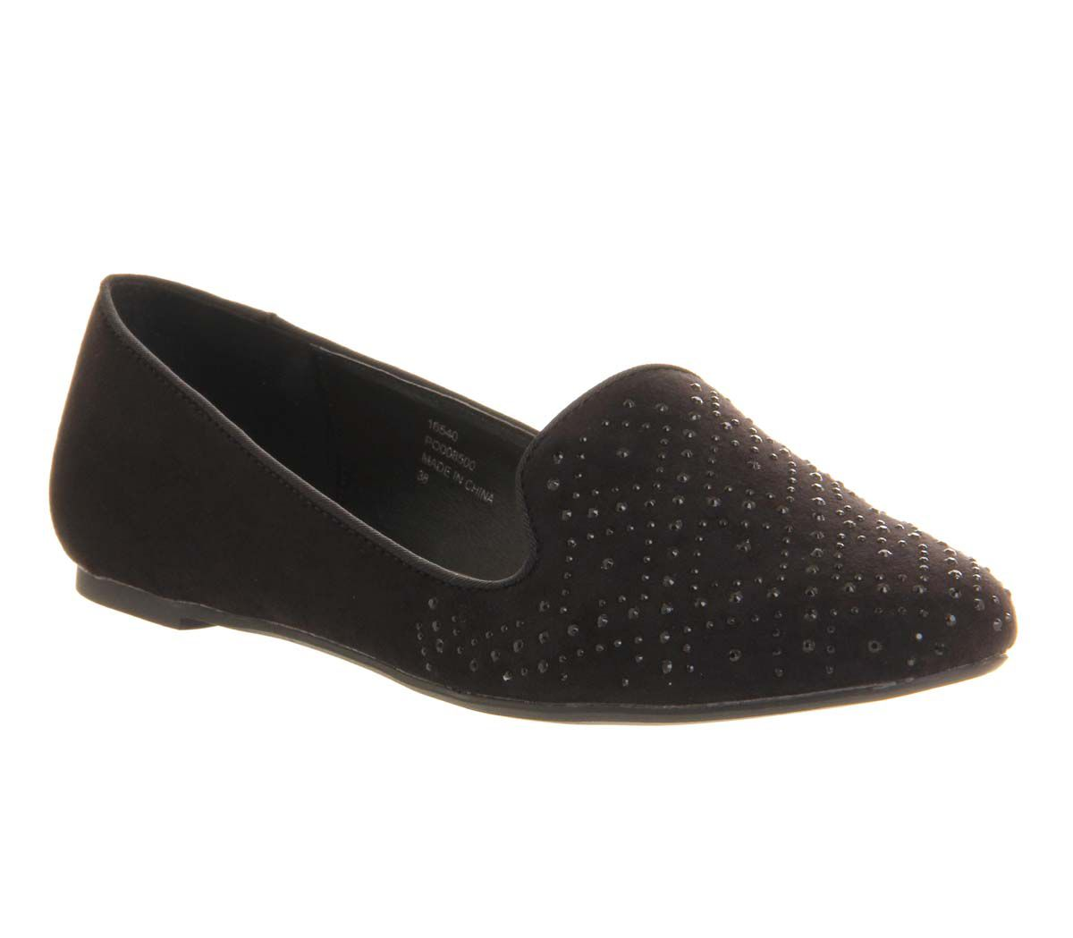 Kozy diamante round toe slipper shoes