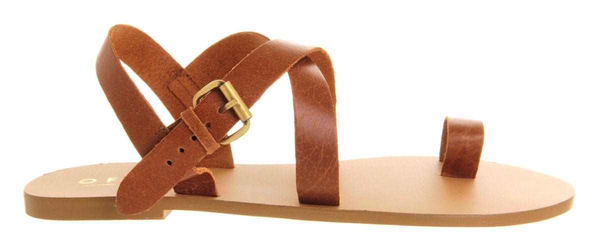 Heatwave toe loop leather flat sandals