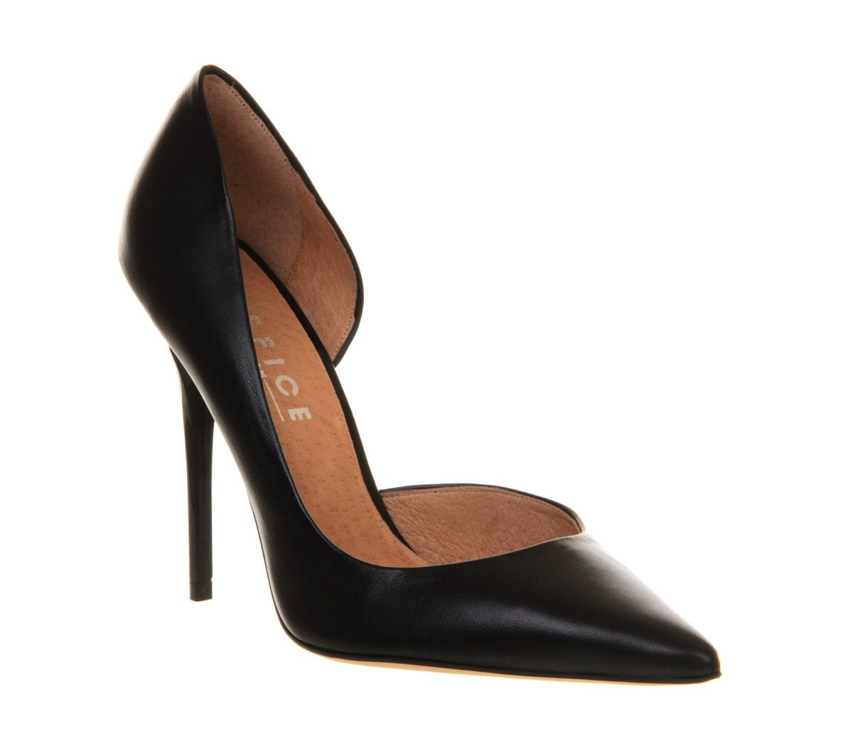 Jaguar dorsay pointed court shoes