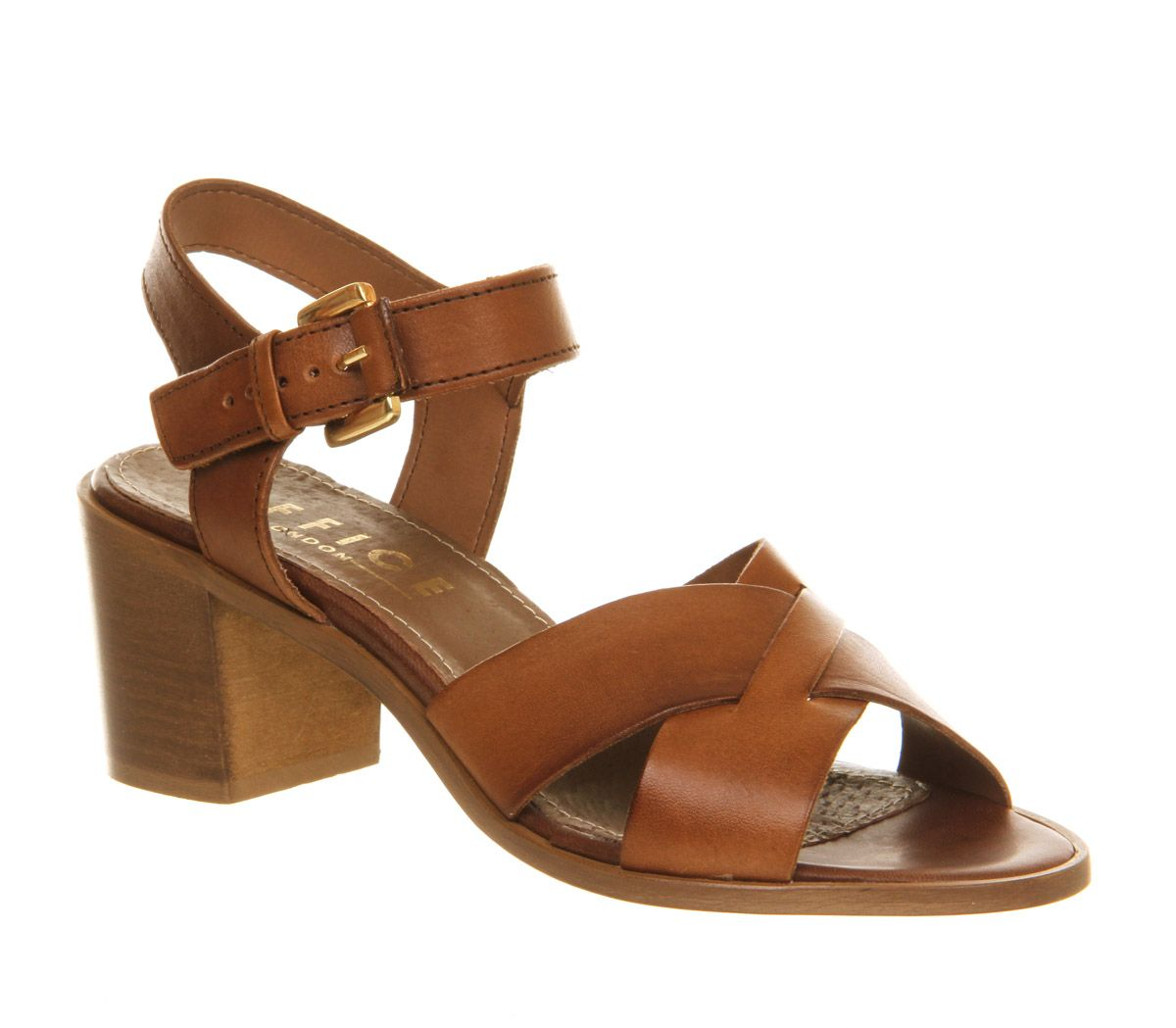Double dutch mid heel sandals