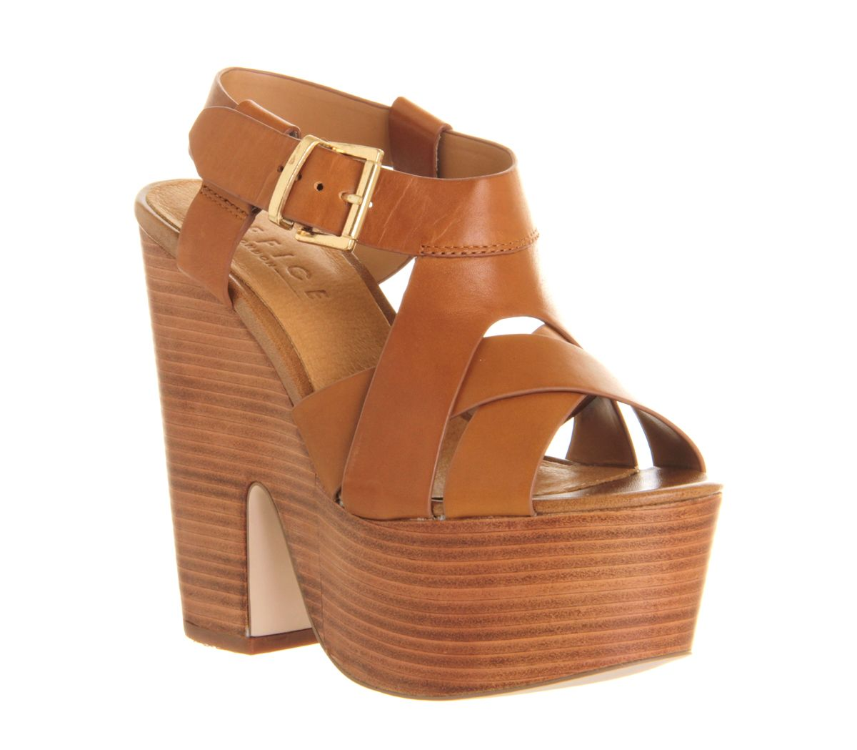 Sahara cross strap platform sandals