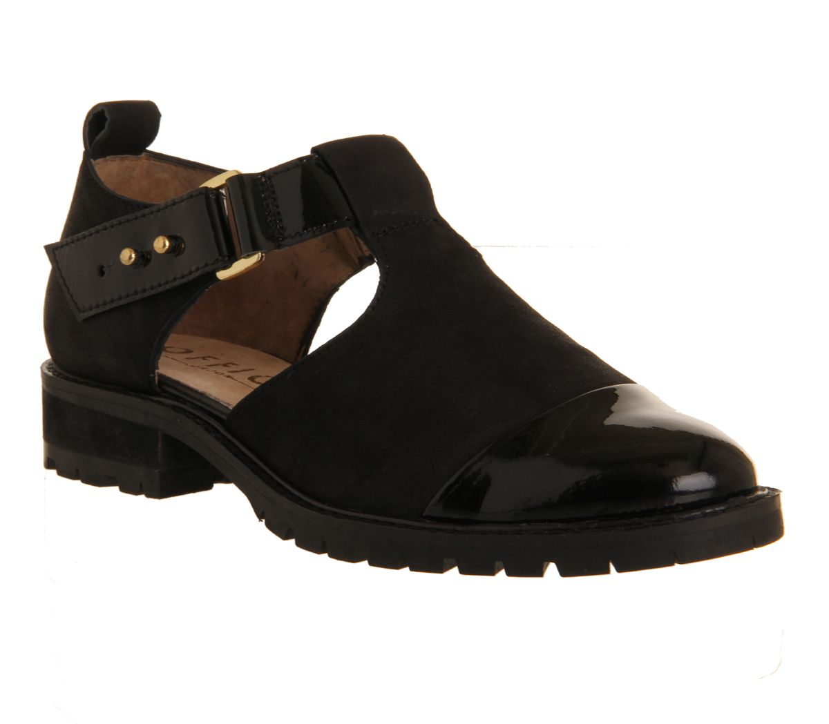 Kimble cut out cleat t-bar loafers