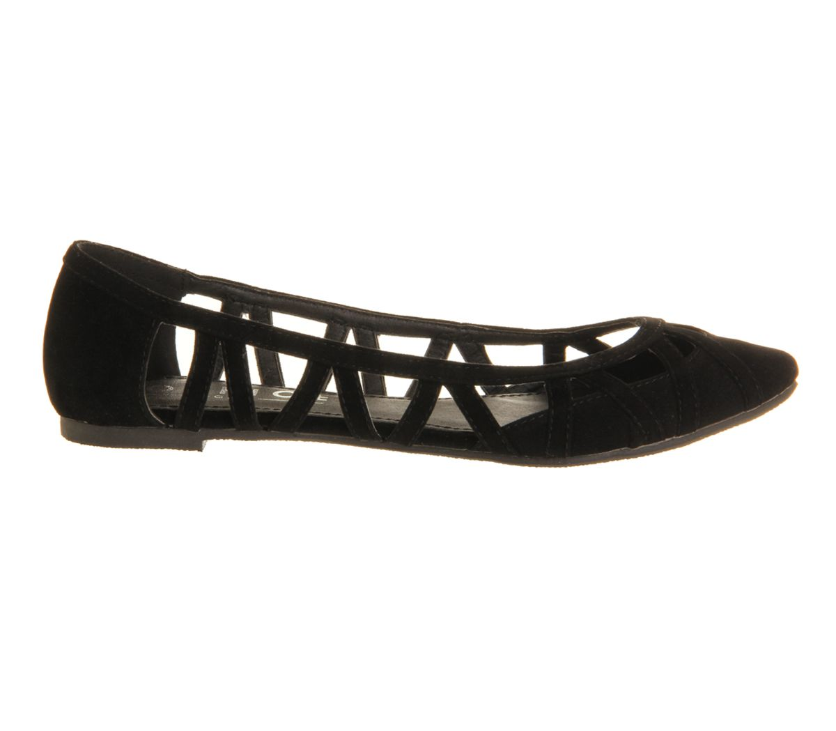 Veil cut out pump flat pumps