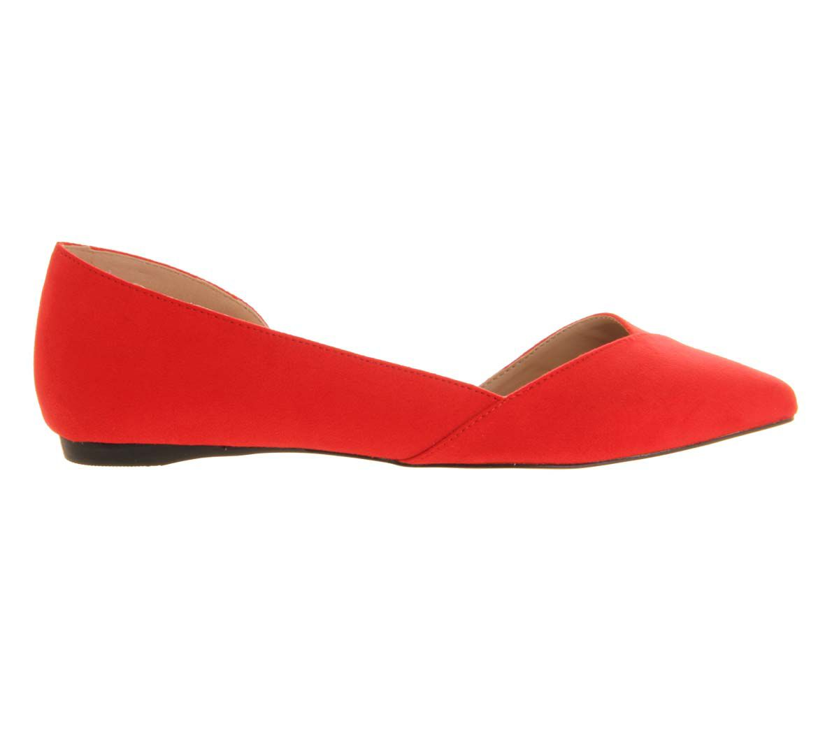 Keepsake dorsay pointed toe flat pumps