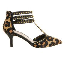 Galactic multi strap mid heel courts