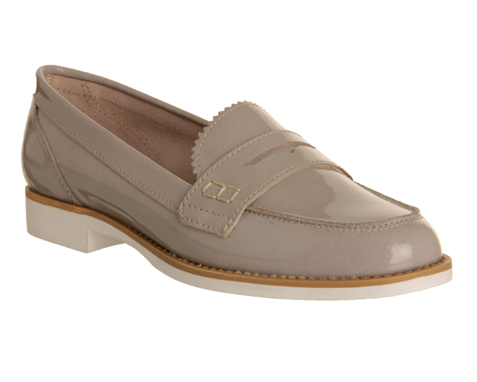 Kim almond toe flat loafer shoes