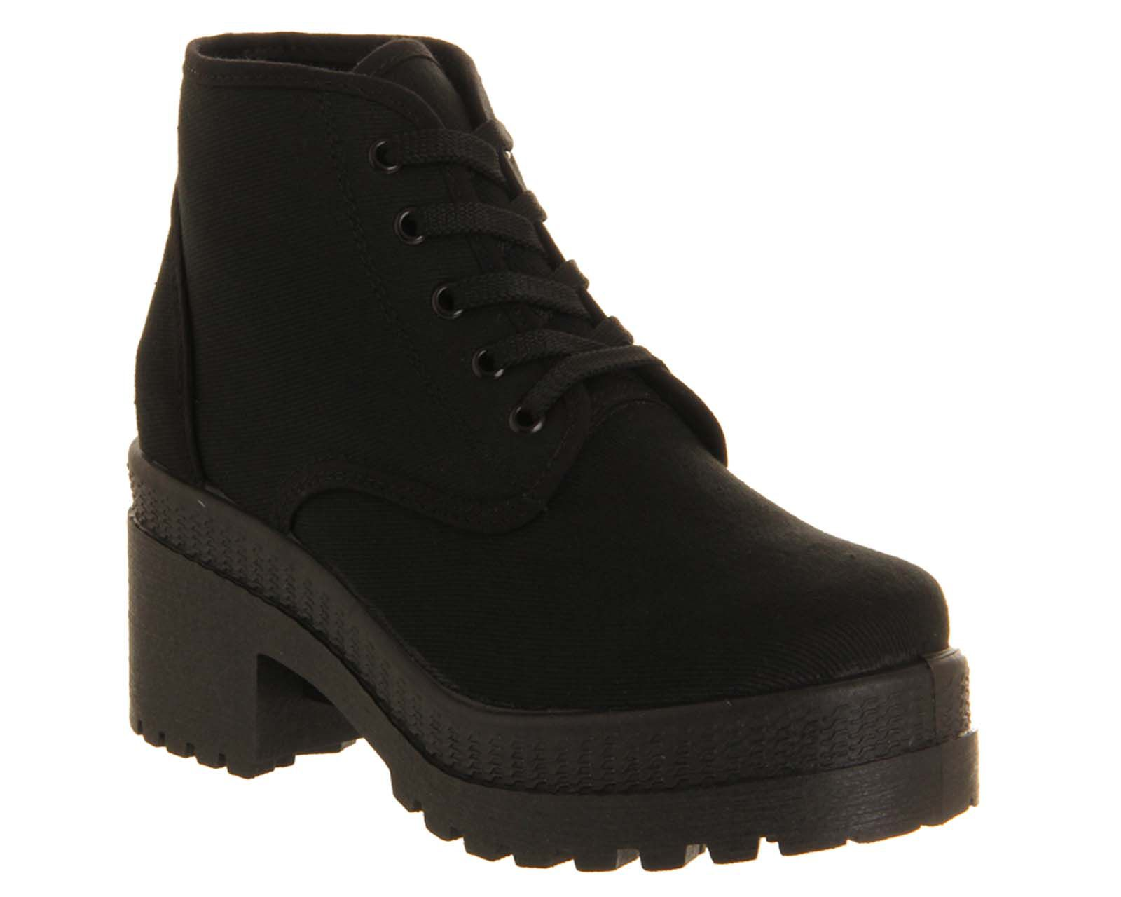 Chuck canvas chunky lace up boots