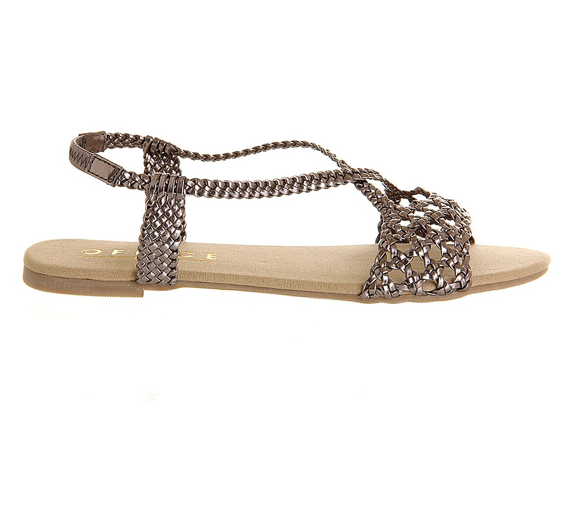 Hades weave open toe flat buckle sandals