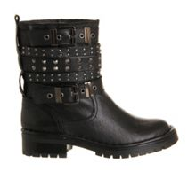 Cracking Stud Biker Boot