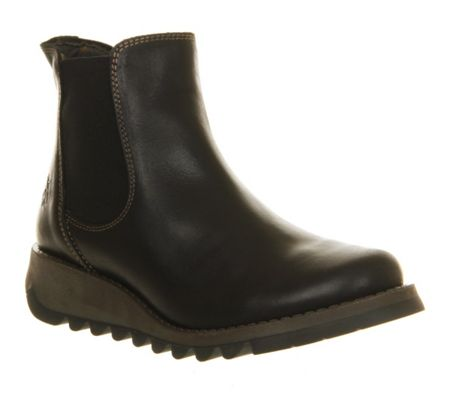 fly salv low wedge chelsea boots black house of fraser