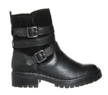 Camping Fleece Biker Ankle Boot