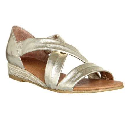 Office Hallie cross strap sandals