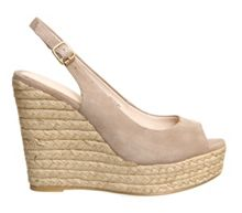 Palm espadrille wedges