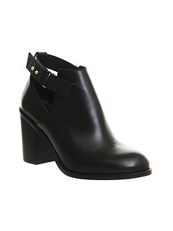 Fraction cut out ankle boots