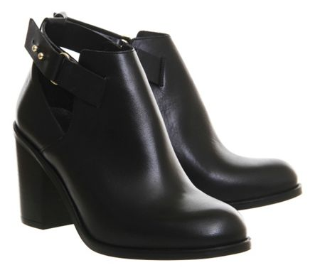 Office Fraction cut out ankle boots