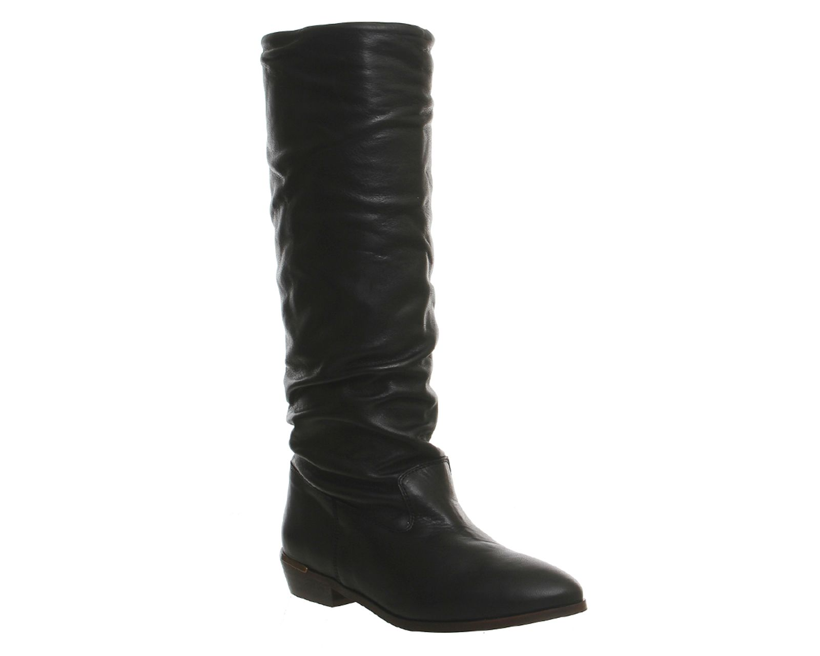 Office Eliza casual slouch knee boots Black Leather