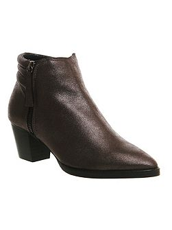 Office Feline padded zip ankle boots