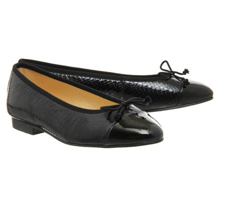 Office Rosa high vamp ballet pumps