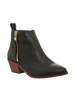 Imposter side zip ankle boots