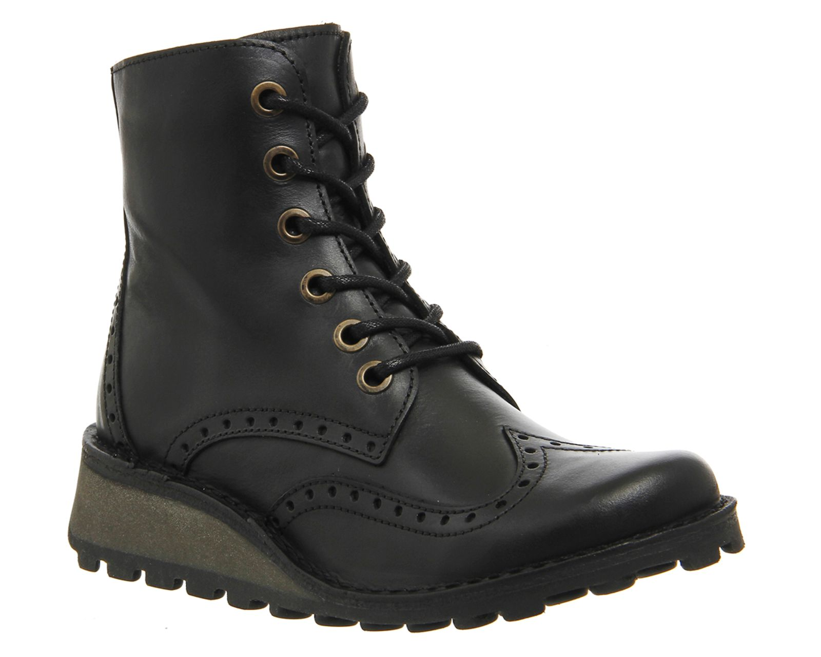 Fly Fly Marl lace up boots, Black