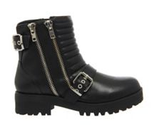 Office Impact buckle biker ankle boots
