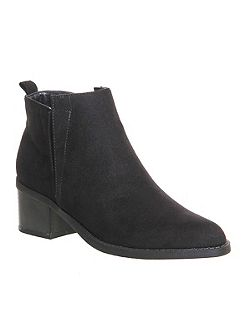 Invisible block heel boots