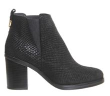 Illusion block heel chelsea boots