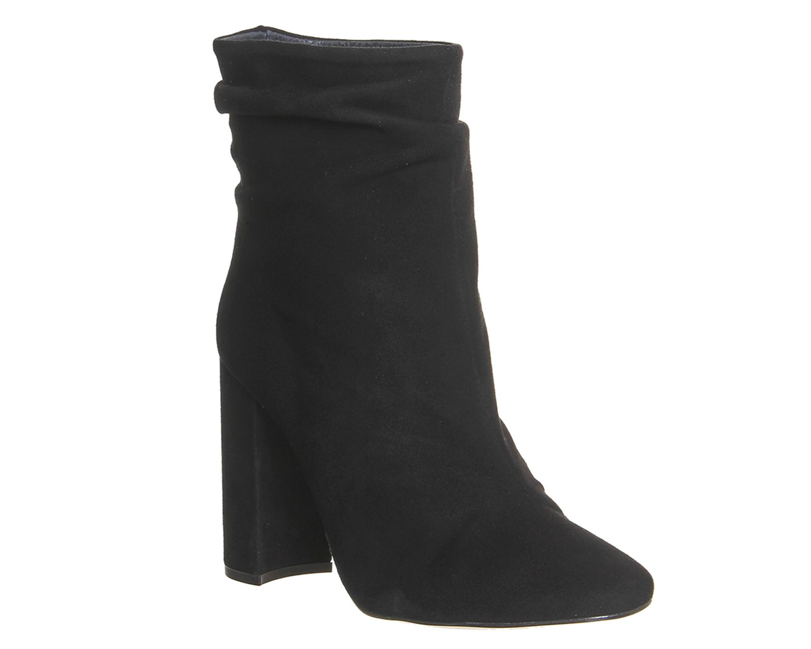 Office Infamous slouch ankle boots Black Suede