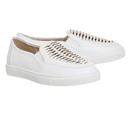 Office Domino woven slip on trainers