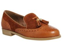 Office Ringo tassel brogue slipper flats
