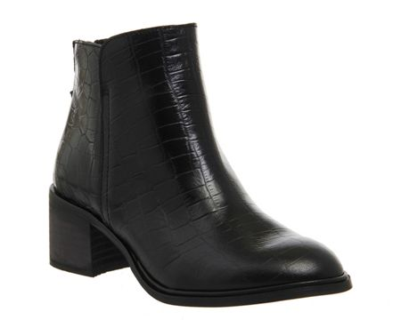 Office Inventive back zip ankle boots