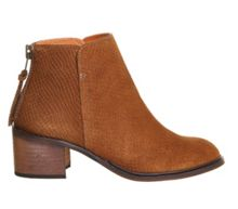 Inventive back zip ankle boots