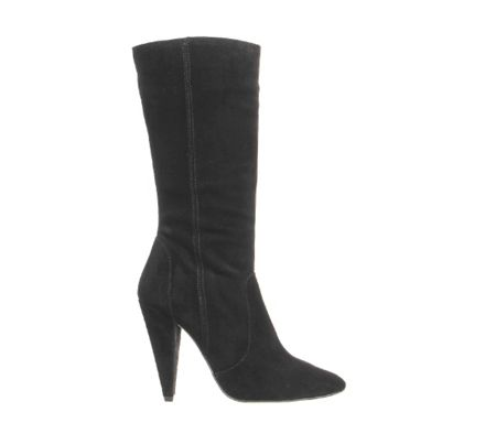 Office Eager cone heel calf boots