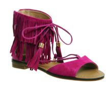 Office Bombshell fringed sandals