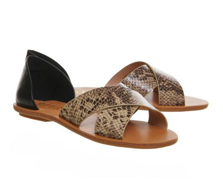 Office Orion cross strap sandals