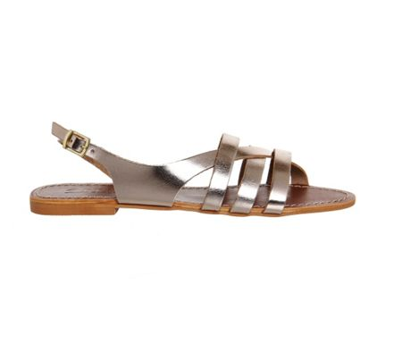 Office Bamboo strappy sandals