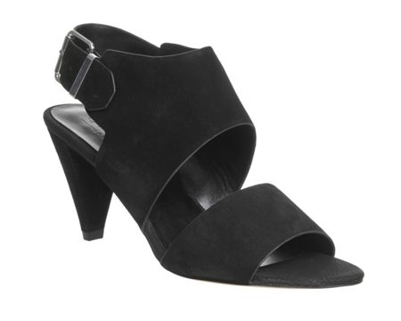 Office Minimal two strap cone heels