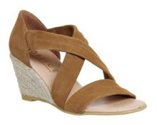 Office Maiden cross strap wedge sandals