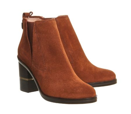 Office Illusion block heel chelsea boots