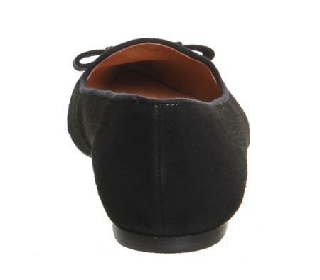 Office Dramatic point bow slippers