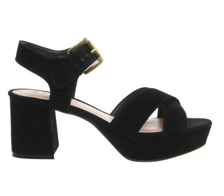 Office Montana platform block heels