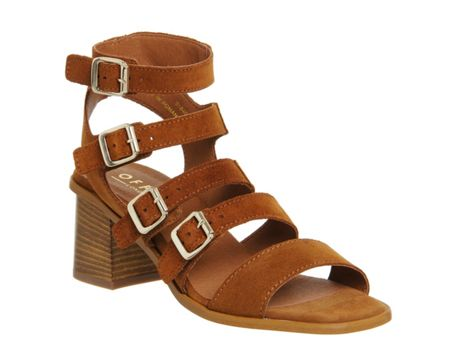 Office Maximum buckle block heel sandals