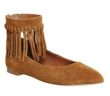 Office Deception fringed pointed flats